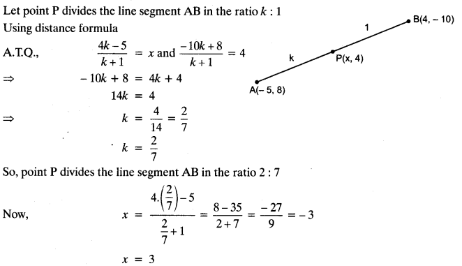 Coordinate Geometry Class 10 Maths CBSE Important Questions With Solutions 116