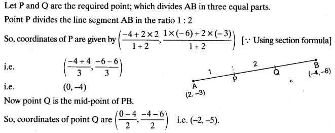 Coordinate Geometry Class 10 Maths CBSE Important Questions With Solutions 126