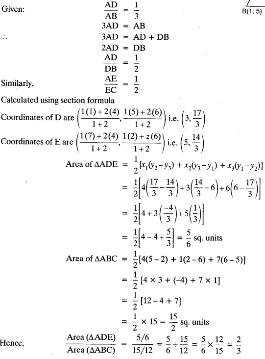 Coordinate Geometry Class 10 Maths CBSE Important Questions With Solutions 13
