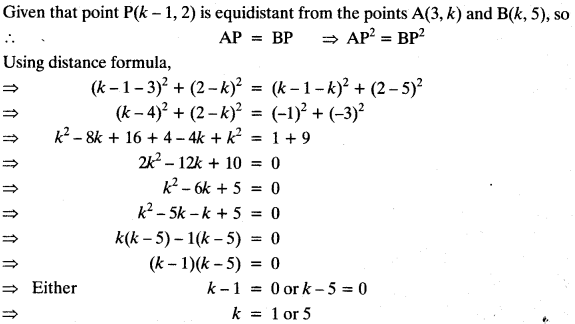 Coordinate Geometry Class 10 Maths CBSE Important Questions With Solutions 47