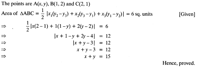 Coordinate Geometry Class 10 Maths CBSE Important Questions With Solutions 86