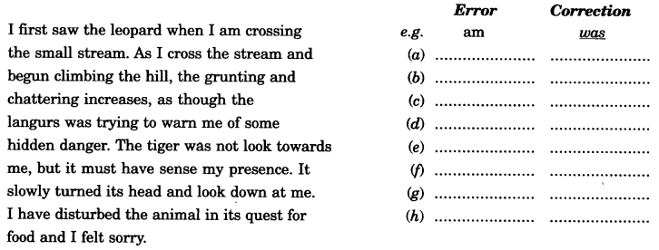 Tenses Exercises for Class 11 CBSE with Answers - English Grammar image - 1