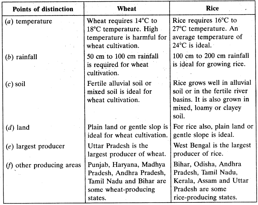 Agriculture Class 10 Important Questions Social Science Geography Chapter 4 3