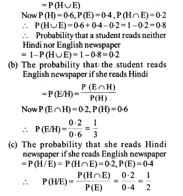 NCERT Solutions for Class 12 Maths Chapter 13 Probability Ex 13.2 Q16.1