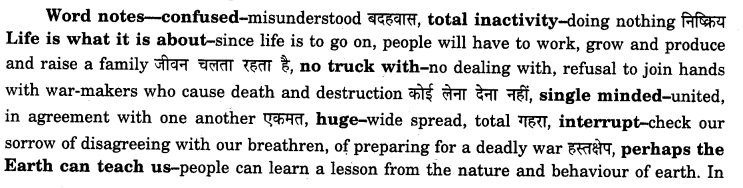 NCERT Solutions for Class 12 English Flamingo Poem 3 Keeping Quiet 2