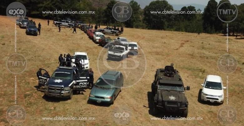 Policía Michoacán desmantela campamento de LNFM y localiza posibles restos humanos
