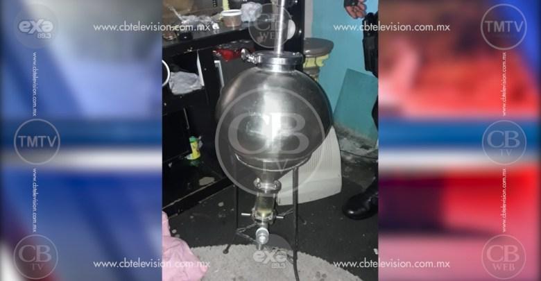 Policía Michoacán localiza narcolaboratorio en Villas del Pedregal