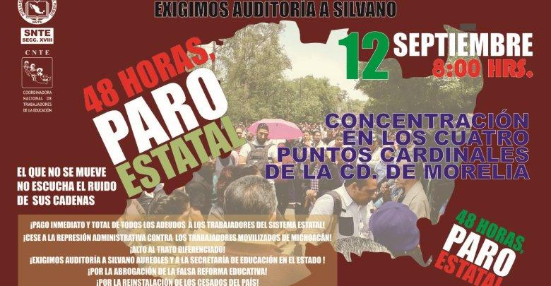Este miércoles, bloqueará CNTE accesos a la ciudad