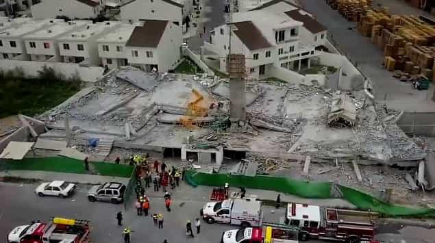 Derrumbe dejó 15 lesionados, 7 muertos y 9 desaparecidos en Monterrey