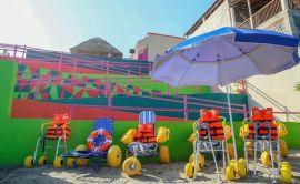 Así luce la primera playa incluyente de Guerrero