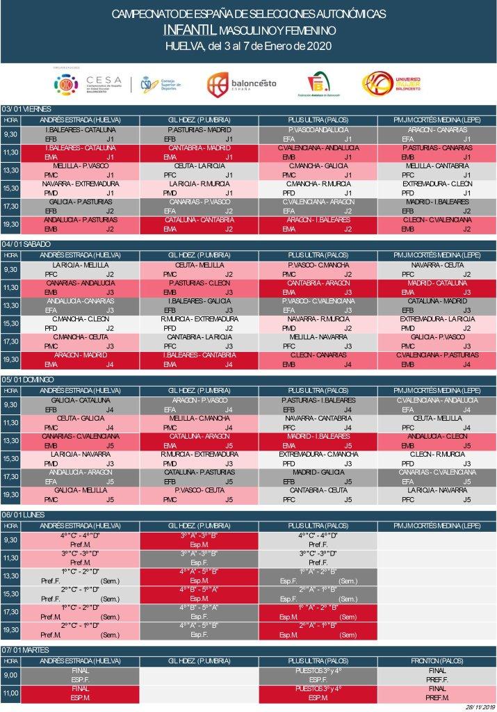 Calendario Infantil SSAA 2020