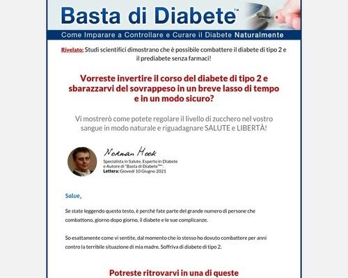 Basta Di Diabete - Diabetes Treatment Italian Version. 90% Commission! 1