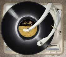 little richard's album placed on a turntable