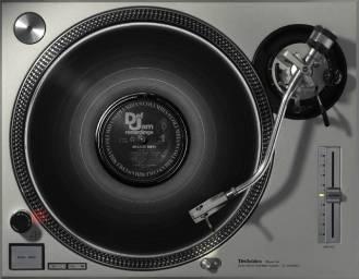 beastie boys' vinyl record on a turntable