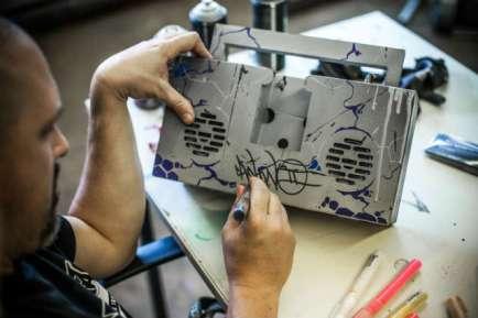 berlin boombox customized by an artist