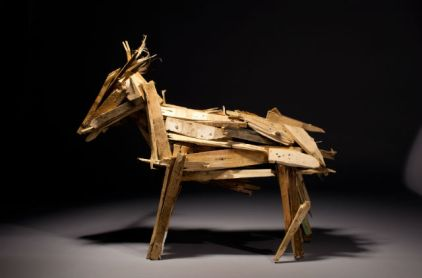 horse made of wood