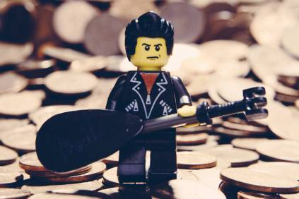 johnny cash made from lego