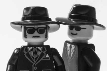 blues borthers built from lego