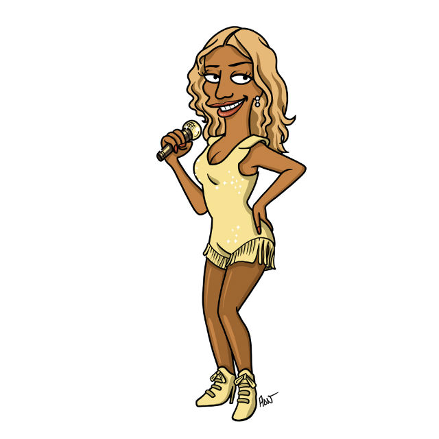 simpsonized by adn, Beyonce