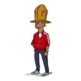 simpsonized by adn, Pharrell Williams