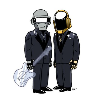 simpsonized by adn, daft punk