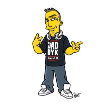 simpsonized by adn, dj daddy k
