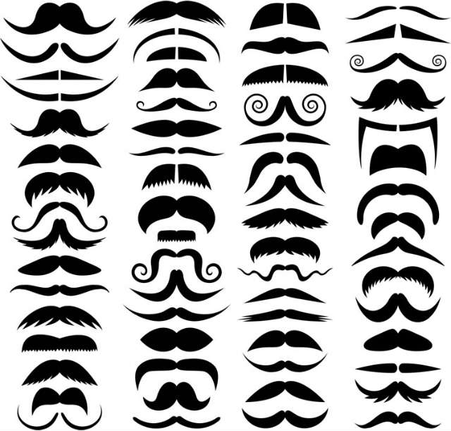 different kinds of moustaches