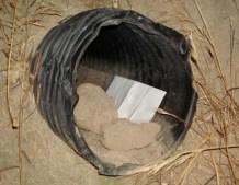 concert tickets hidden in a ditche