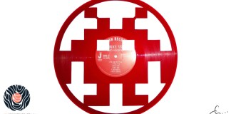 handmade vinyl record art by cb... - Space Invaders