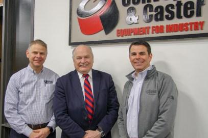 Left to right: Jeff Stohr, CEO; Mayor Clough; Trevor Stohr, President