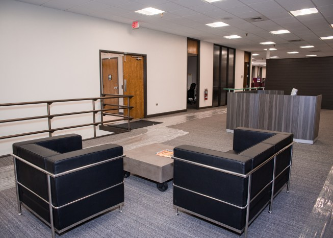 Modern, comfortable sofas in our open areas encourage conversation