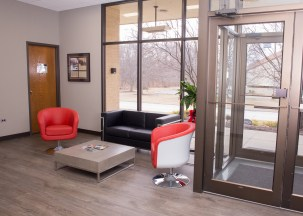 A welcoming lobby and comfortable seating