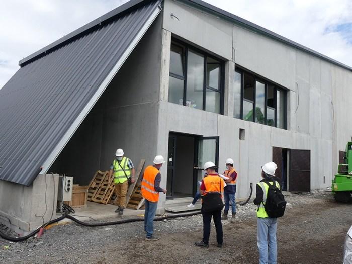 Construction d'une usine d'eau potable à Thérondels