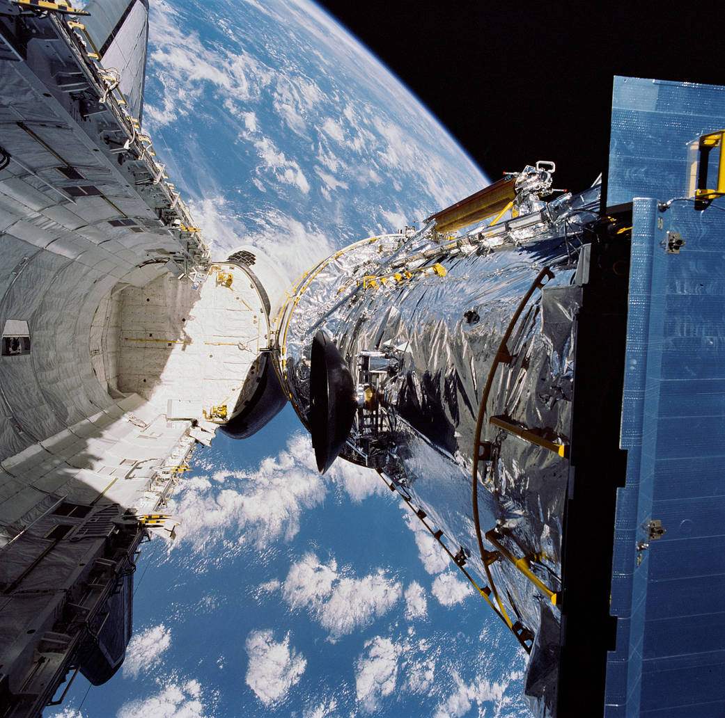 April 25, 1990, Deployment of the Hubble Space Telescope