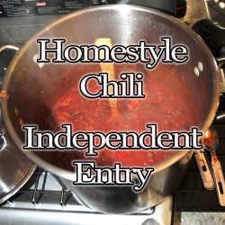 Homestyle Chili Entry Fee