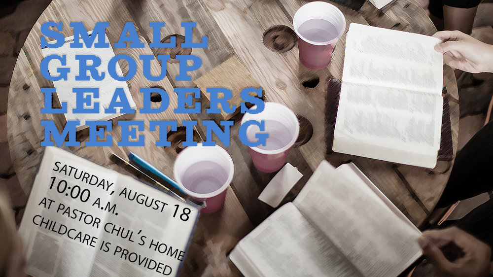 Small Group Leaders Meeting