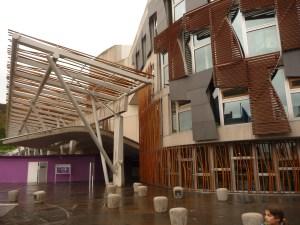Exterior of the Scottish Parliament building