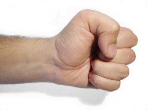 Fist in a grip
