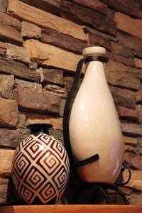 Vases on a mantel