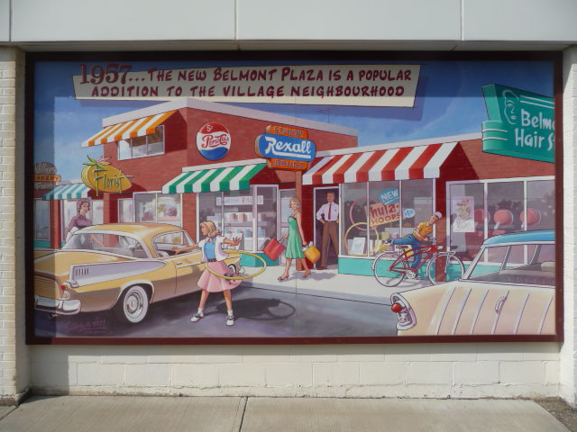 Picture of a mural of a scene in 1957
