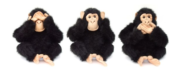 Three monkeys - see, hear, speak no evil