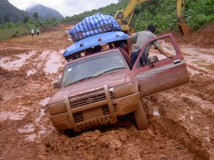 Picture of a stuck truck