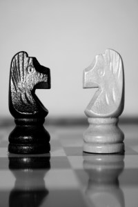 Two chess pieces
