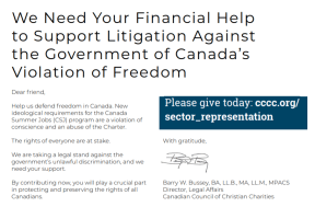 We Need Your Financial Help to Support Litigation Against the Government of Canada's Violation of Freedom