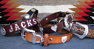 WESTERN LEATHER DOG COLLARS - RODEO ROVER DESIGNER COLLECTION