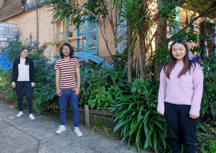 photo of three placement students