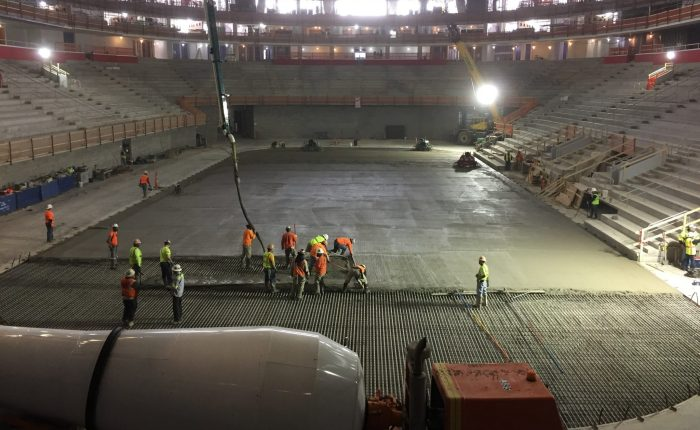 little caesars arena ice pour