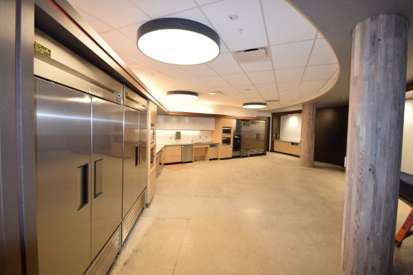 Carhartt Headquarters kitchen side angle