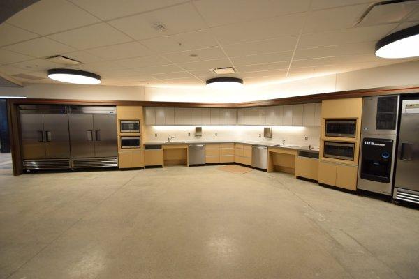Carhartt Headquarters empty kitchen