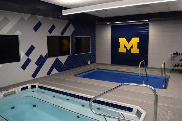 11University of Michigan Sports Complex hot tubs and tv screens